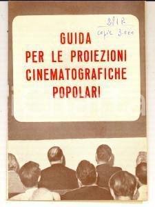 1950 ca COSTUME Guida per le proiezioni cinematografiche popolari pp. 50 RARO