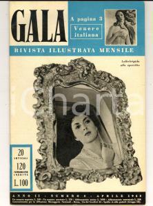 1953 GALA Castelli della Loira - Jennifer JONES *Rivista ILLUSTRATA anno II n° 3