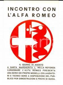 1970 ca SANTA MARGHERITA LIGURE Incontro collaudo ALFA ROMEO *Biglietto