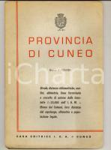 1959 PROVINCIA DI CUNEO Mappa generale comuni, strade e ferrovie 145x100 ed. ICA