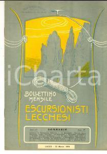 1916 ESCURSIONISTI LECCHESI Nuove escursioni con gli sci *Rivista anno II n°  3