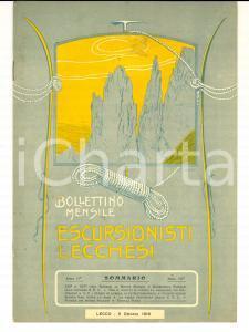 1916 ESCURSIONISTI LECCHESI Traversata delle due GRIGNE *Anno II n° 10