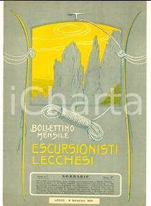1916 ESCURSIONISTI LECCHESI Inaugurazione tricolore alla capanna S.E.L.*n° 9