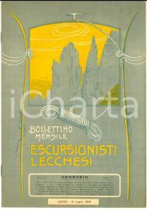 1916 ESCURSIONISTI LECCHESI Gita al Torrione Magnaghi Meridionale *Anno II n° 7