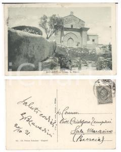 1921 GIRGENTI Chiesa di S. NICOLO' *Cartolina ANIMATA Giovanni Battista CAVADINI