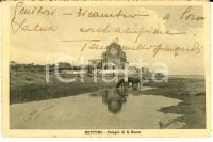 1917 NETTUNO Tempio di SAN ROCCO *Cartolina ANIMATA ten. Camillo SPINGARDI