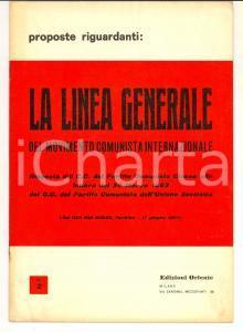 1963 PARTITO COMUNISTA CINESE Proposte riguardanti la linea generale ed. ORIENTE