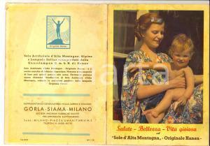 1940 ca Lampada SOLLUX - Sole Alta Montagna *Libretto ILLUSTRATO 38 pp. RARO