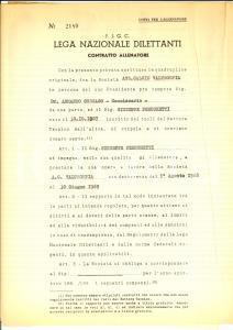 1968 FIGC CALCIO Contratto Giuseppe PERUCCHETTI allenatore A. C. VALTROMPIA