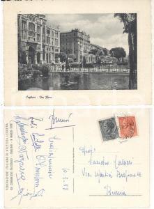 1958 CAGLIARI Congresso FIDAL Cartolina autografi OBERWEGER LOLLI ZANIBONI