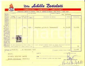 1957 BRESCIA Ditta Achille BORTOLOTTI Fattura intestata con autografo