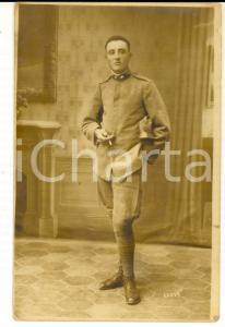 1915 ca WWI REGIO ESERCITO Ritratto di ufficiale di artiglieria *Foto cartolina
