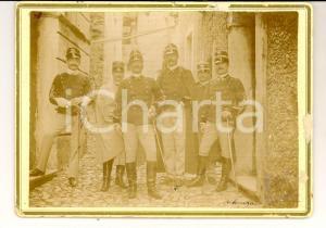 1890 ca REGIO ESERCITO CATANZARO Magg. Giuseppe UTILI con vari ufficiali *Foto