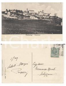 1909 MURISENGO (AL) Panorama del paese *Cartolina autografo col. Vito PUGLIOLI