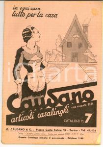 1940 TORINO Articoli casalinghi CAUDANO *Catalogo ILLUSTRATO pp. 98 VINTAGE