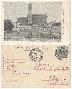 1908 CAPRINO VERONESE Panorama *Cartolina col. Tommaso MONTI alla famiglia