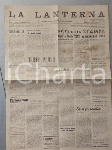 1945 LA LANTERNA Quattro socialisti dal Papa *Giornale cattolico anno I n° 27