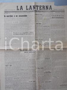 1947 LA LANTERNA Ricordi don Guerrino FABBRI JUGOSLAVIA *Giornale anno III n° 42