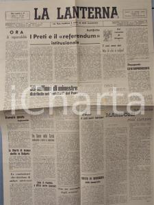 1946 LA LANTERNA I preti e il referendum istituzionale *Giornale anno II n° 26