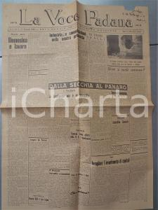 1948 LA VOCE PADANA Elemosina e lavoro *Settimanale pianura modenese anno I n°4