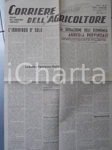 1945 MODENA CORRIERE DELL'AGRICOLTORE Situazione economia provinciale *Giornale