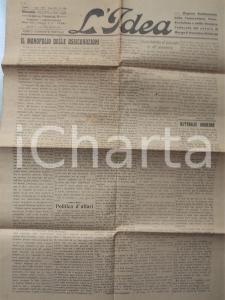 1911 PARMA L'IDEA Il monopolio delle assicurazioni *Settimanale socialista