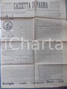 1911 GAZZETTA DI PARMA Organizzazione delle forze liberali *Anno LII n° 173