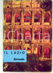 1963 TURISMO IL LAZIO Guida per il turista fotografo ILLUSTRATA *FERRANIA 50 pp.