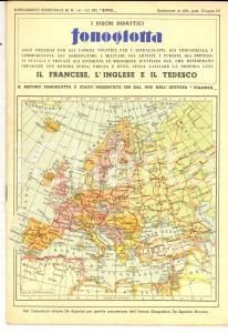 1932 FONOGLOTTA Dischi didattiici per le lingue *Libretto PUBBLICITARIO