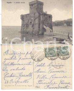 1912 RAPALLO (GE) Il castello storico *Cartolina contessa GAROLLA FP VG