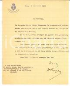 1920 ROMA Ministero dell'Interno - Filippo MEZZI non assicura aiuto *Autografo