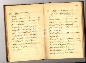 1850 ca LODI Ricettario veterinario/farmaceutico *Manoscritto RARO 85 pp.