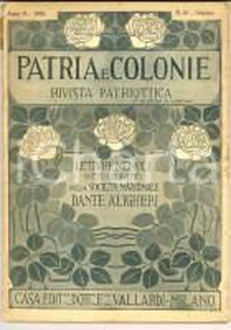 1916 PATRIA E COLONIE Romania, terra di eroi e di poeti *Rivista anno V n° 10