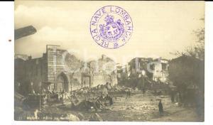 1908 MESSINA TERREMOTO Piazza del Duomo *Cartolina postale ANIMATA FP NV