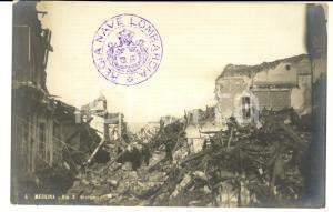 1908 MESSINA TERREMOTO Via S. Giacomo distrutta *Cartolina postale ANIMATA FP NV