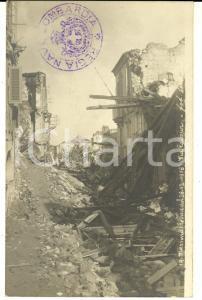 1908 MESSINA TERREMOTO Rovine di via Cavour *Cartolina foto MARTINEZ FP NV