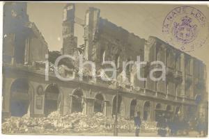 1908 MESSINA TERREMOTO Hotel TRINACRIA distrutto *Cartolina postale ANIMATA FP