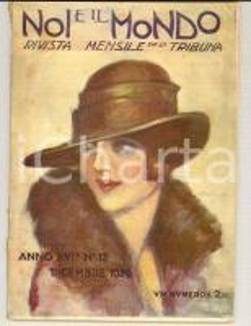 1926 NOI E IL MONDO La poetessa Elisabetta CAMINER TURRA *Rivista anno XVI n°12