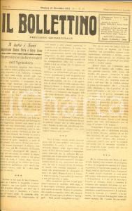 1931 MODENA IL BOLLETTINO Luigi LEGNANI musicista dimenticato *Anno II n° 15