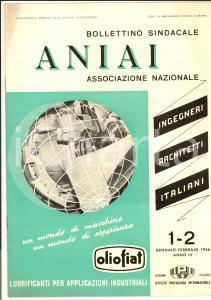 1956 ANIAI BOLLETTINO SINDACALE Ingegneri e Architetti - Assemblea federale