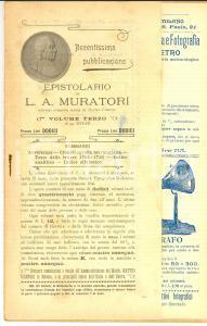 1902 EDITORIA Fascicolo con pubblicità ILLUSTRATE UTET - NUOVA ANTOLOGIA 32 pp.