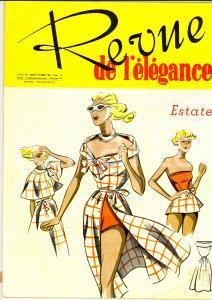 1952 REVUE DE L'ELEGANCE Abiti da villeggiatura *Rivista ILLUSTRATA anno III 12