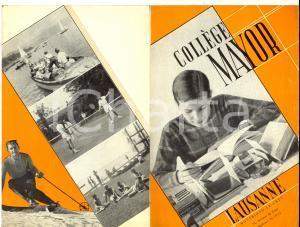 1960 ca LAUSANNE (SUISSE) Collège MAYOR - Brochure publicitaire ILLUSTREE
