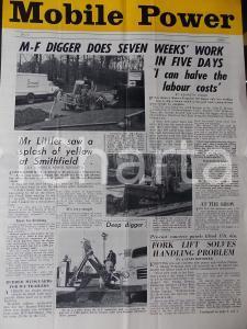 1960 MOBILE POWER MASSEY-FERGUSON Digger 702 excavating *n° 3