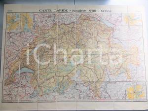 1910 ca CARTE TARIDE SUISSE Routière n° 29 *Mappa su tela 100x70 cm