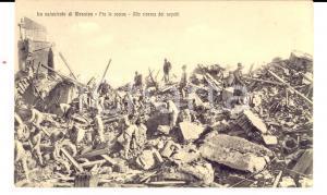 1908 MESSINA TERREMOTO Ricerca dei sepolti fra le rovine *Cartolina ANIMATA FP