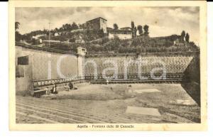 1935 L'AQUILA La fontana delle 99 cannelle *Cartolina postale ANIMATA FP VG