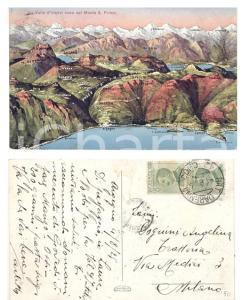 1925 VALLE D'INTELVI Veduta dal monte S. PRIMO *Cartolina natante VARENNA-COMO