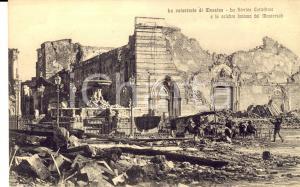 1908 MESSINA TERREMOTO Cattedrale e fontana del MONTORSOLI *Cartolina ANIMATA FP