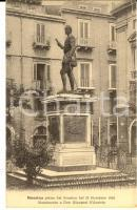 1908 MESSINA Pre TERREMOTO - Monumento a don Giovanni d'Austria *Cartolina FP NV